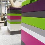 coffre de rangement laqué blanc vert Group Pied mobilier Les Pieds Sur La Table réalisation maison