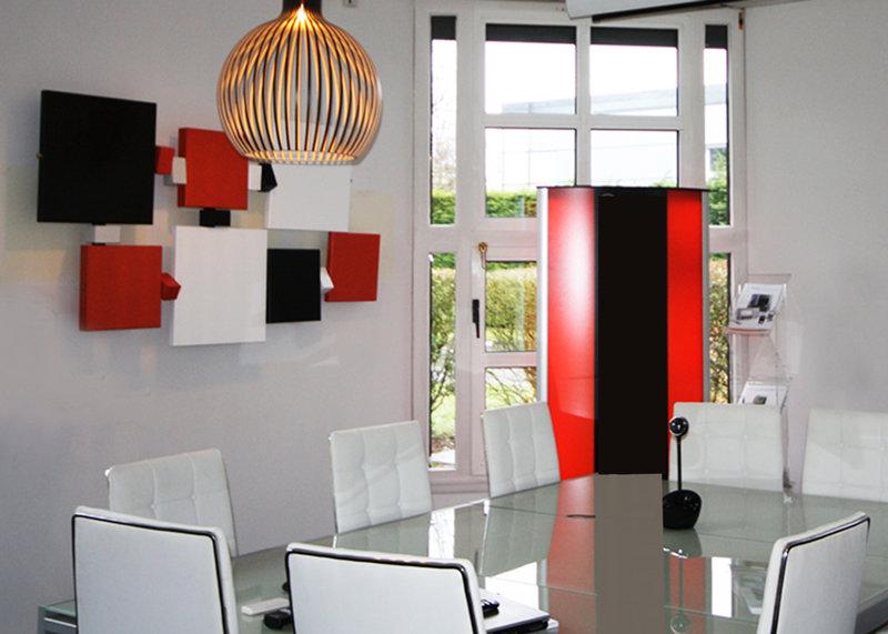 sculpture murale pour bureaux d'entreprise Design Mobilier Les Pieds Sur La Table