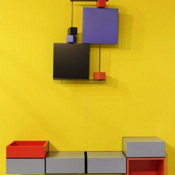 bureau console mural Pas-Pied couleur sur mesure mobilier Les Pieds sur la table