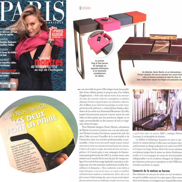 Console connectée design Plug&Pied Mobilier Les Pieds Sur La Table magazine Paris Capitale
