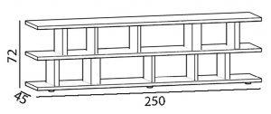 meuble télé étagère modulable sur mesure Pied ciné mobilier modulable Les Pieds Sur La Table croquis