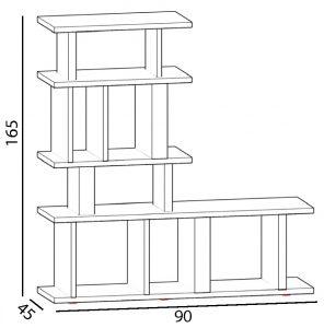 bibliothèque étagère modulable sur mesure Le Pied mobilier modulable Les Pieds Sur La Table croquis