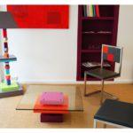 lampadaire graphique cubes en couleurs multicolore Pied-Jeu mobilier Les Pieds Sur La Table showroom