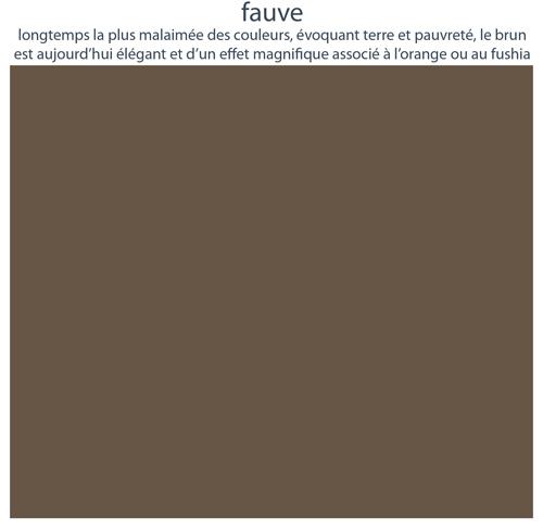 Couleurs de mobilier Les Pieds Sur La Table : 16 laques sélectionnées pour les meubles design Les Pieds Sur La Table, Fauve