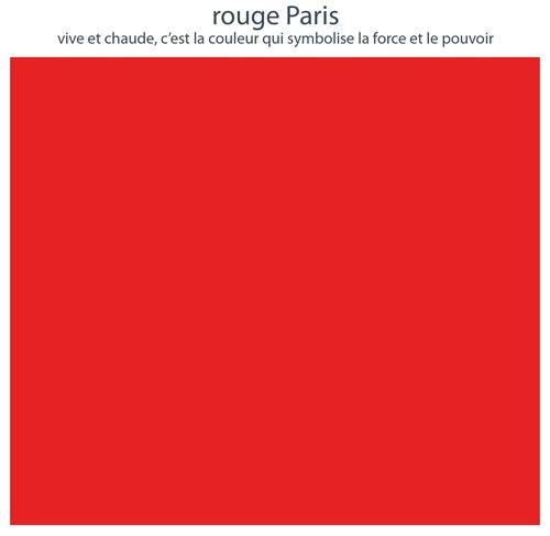 Couleurs de mobilier Les Pieds Sur La Table : 16 laques sélectionnées pour les meubles design Les Pieds Sur La Table, Rouge Paris