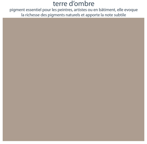 Couleurs de mobilier Les Pieds Sur La Table : 16 laques sélectionnées pour les meubles design Les Pieds Sur La Table, Terre d'ombre