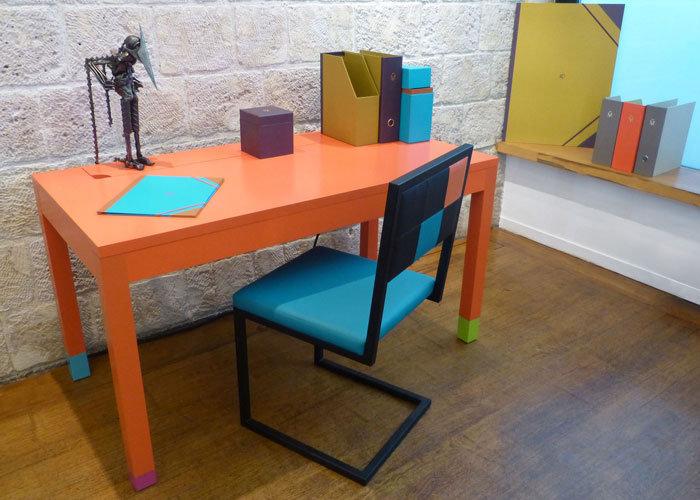 le bureau connect en couleurs co pied mobilier les. Black Bedroom Furniture Sets. Home Design Ideas