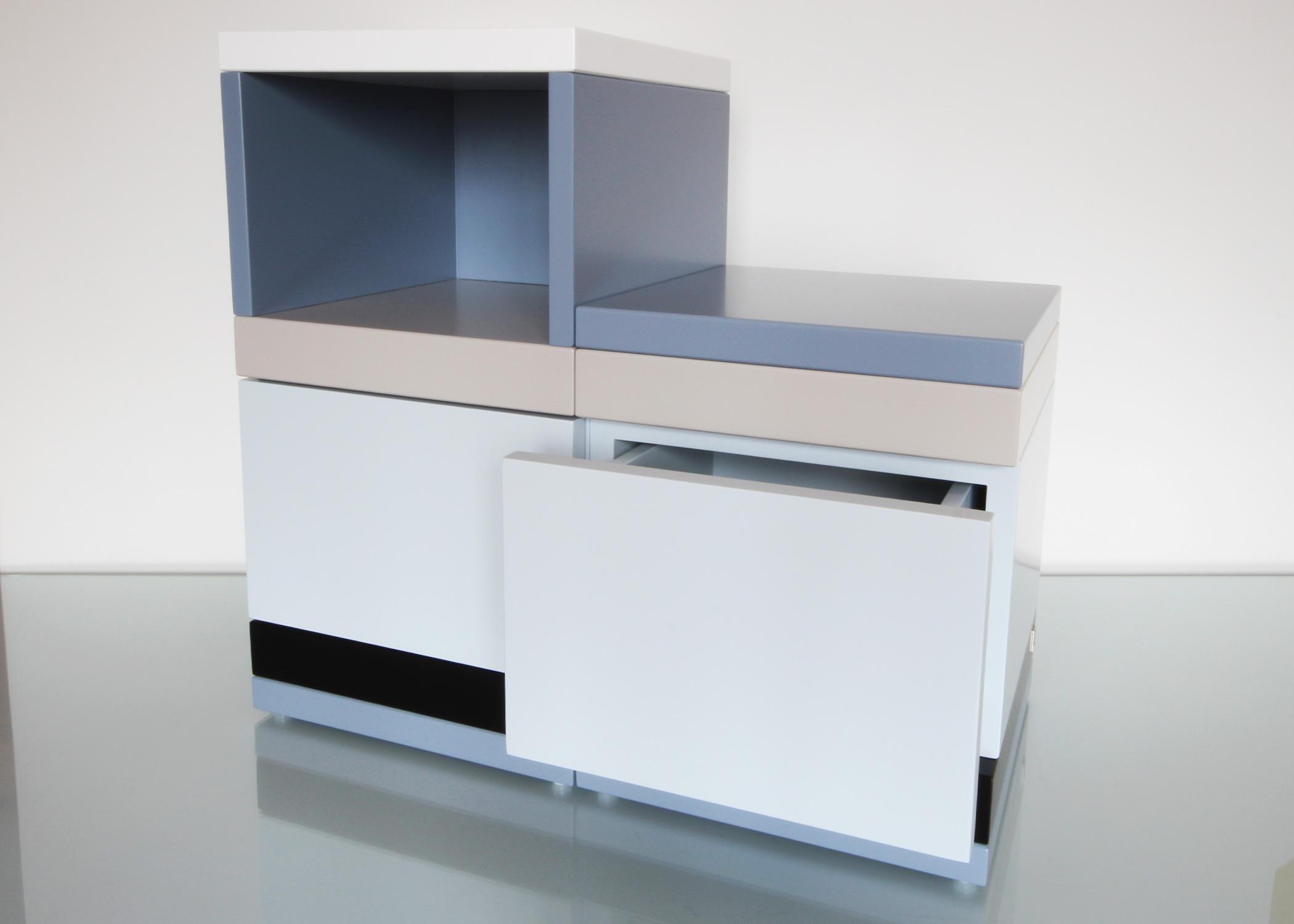 chevet avec niche et tiroir sur mesure mobilier les pieds sur la table. Black Bedroom Furniture Sets. Home Design Ideas