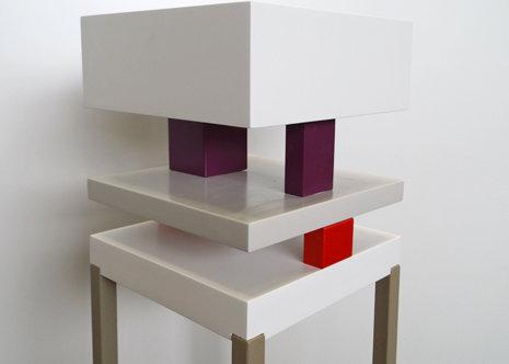 console design graphique Pied de-Grue mobilier Les Pieds Sur La Table modèle original détail cubes