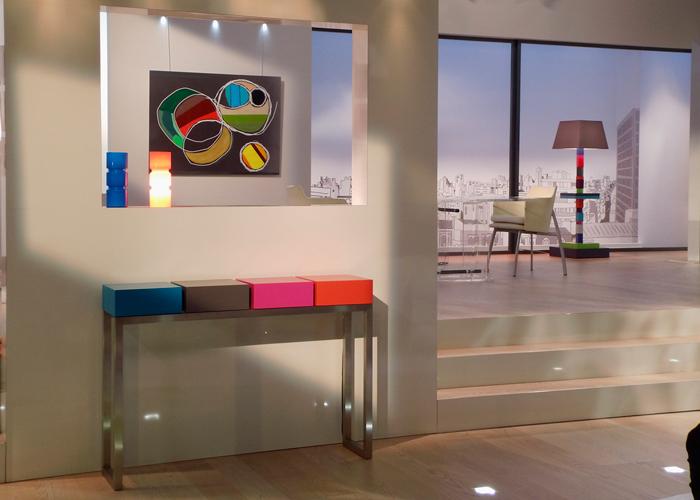 mobilier contemporain color dans th ou caf lmission de tlvision meubles design modulables - Mobilier Contemporain