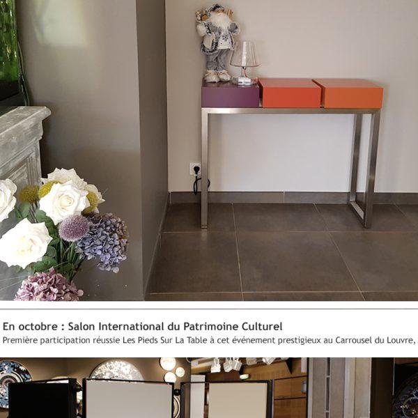 Mobilier design contemporain Les Pieds Sur La Table, créateur et fabricant, Meilleurs Voeux 2019