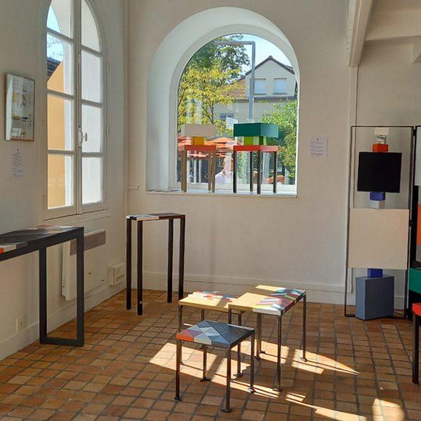 Vente meubles contemporains Les Pieds Sur La Table à la boutique éphémère Rueil-Malmaison septembre 2020 - Créations de meubles design et sur mesure