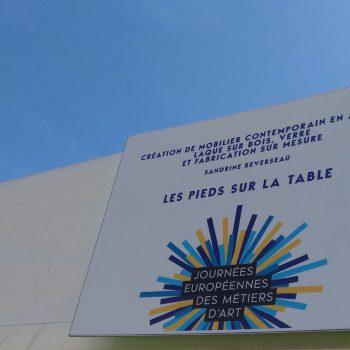 Métiers d'art, Exposition mobilier design Les Pieds Sur La Table aux Journées européennes des Métiers d'Art 2018 Rueil-Malmaison photo