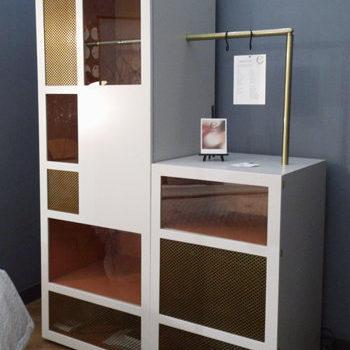 prototype dressing sur mesure et meuble minibar sur mesure mobilier chambre hotel, mobilier Les Pieds Sur La Table