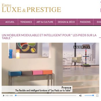 Mobilier design sur mesure dans Luxe&Prestige : mobilier modulable et pétillant de couleurs Les Pieds Sur la Table