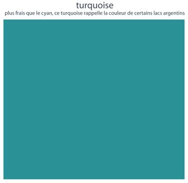 Couleurs de mobilier Les Pieds Sur La Table : 16 laques sélectionnées pour les meubles design Les Pieds Sur La Table, Turquoise