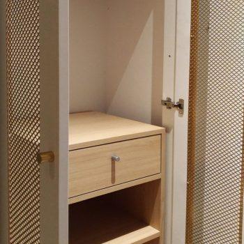 Penderie, placard, meuble coffre fort sur mesure chambre témoin Hôtel Mercure-mobilier-design-Les-Pieds-Sur-la-Table-photo hôtel