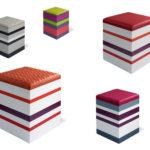 poufs collection en couleurs Group-Pied par Les Pieds Sur La Table