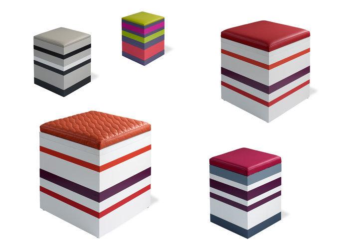 poufs personnalisables en couleurs Group-Pied par Les Pieds Sur La Table