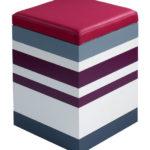 pouf en couleurs fuchsia petit modèle Group-Pied par Les Pieds Sur La Table
