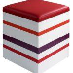 pouf en couleurs sur mesure Group-Pied design par Les Pieds Sur La Table
