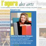Reportage sur Sandrine Reverseau designer du mobilier design contemporain Les Pieds Sur La Table dans L'agora des arts web magazine, accueil
