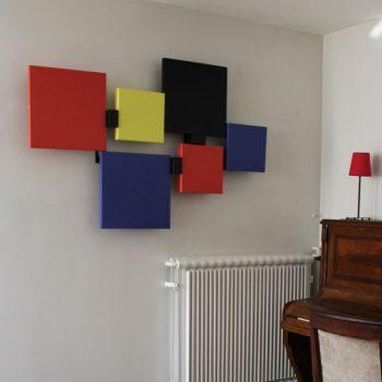 sculpture murale design en couleurs Pas-Pied-Peint appartement particulier, Mobilier Les Pieds Sur La Table vignette