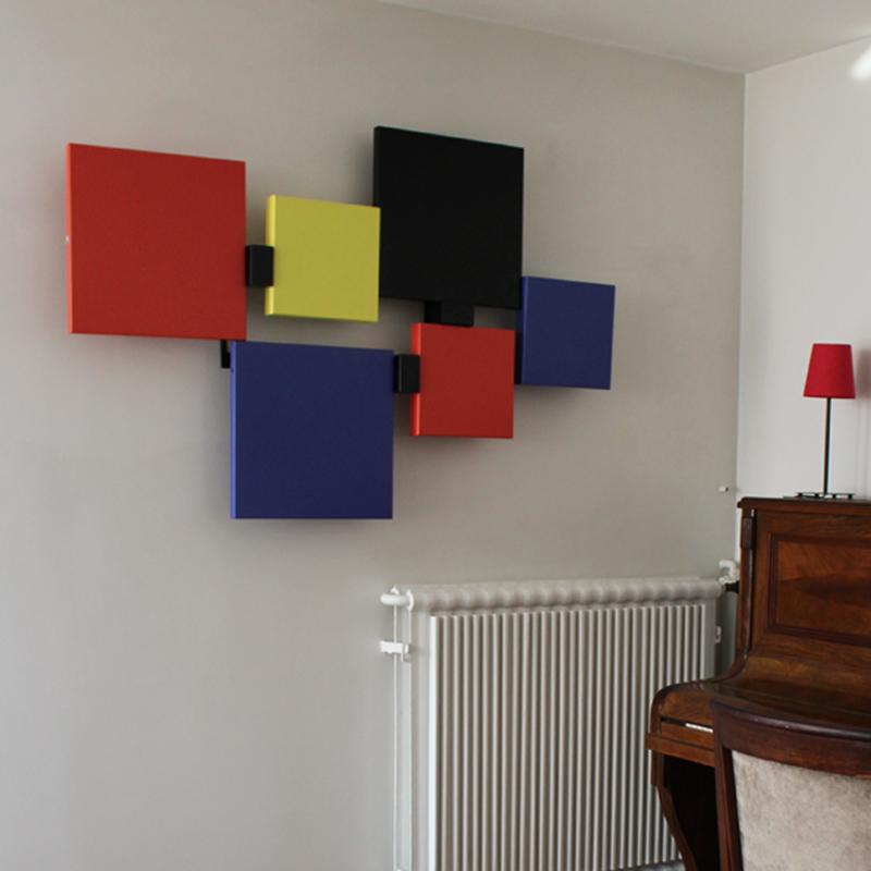 sculpture murale design en couleurs Pas-Pied-Peint appartement particulier, Mobilier Les Pieds Sur La Table vignette2