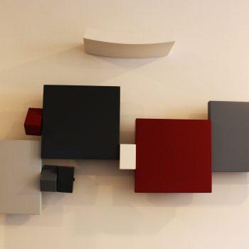 sculpture murale sur mesure r alisation hall accueil bureau entreprise. Black Bedroom Furniture Sets. Home Design Ideas