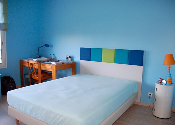 t te de lit murale sur mesure mobilier les pieds sur la table. Black Bedroom Furniture Sets. Home Design Ideas