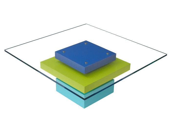 table basse en couleurs et verre carré Pied G Uno mobilier modulable Les Pieds Sur La Table modèle original