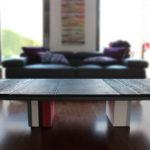table basse design caoutchouc et couleurs sur mesure carré Pied G mobilier modulable Les Pieds Sur La Table maison particulier