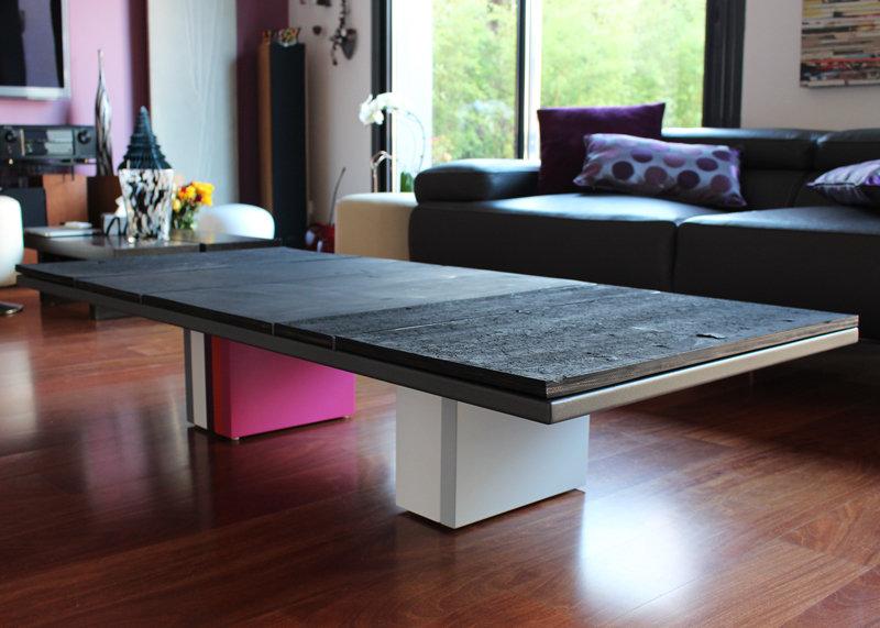 Mod le unique la table basse pied g caoutchouc les pieds sur la table - Modele table basse ...