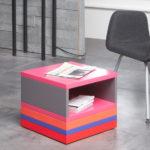 table basse accueil bureaux en couleurs et rangement Pied Monté mobilier modulable Les Pieds Sur La Table détail