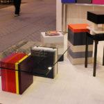table basse en couleurs et verre rectangulaire Pied G Multi mobilier modulable Les Pieds Sur La Table salon