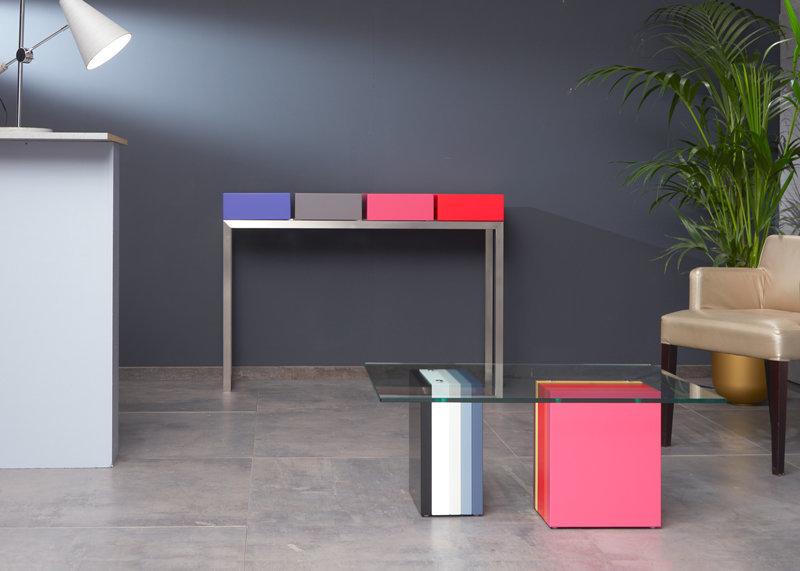 Table basse en couleurs pied g multi mobilier les pieds sur la table - Pied pour table basse en verre ...