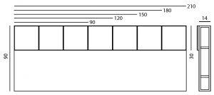 tête de lit sur mesure avec rangements Drap-Pied par Les Pieds Sur la table